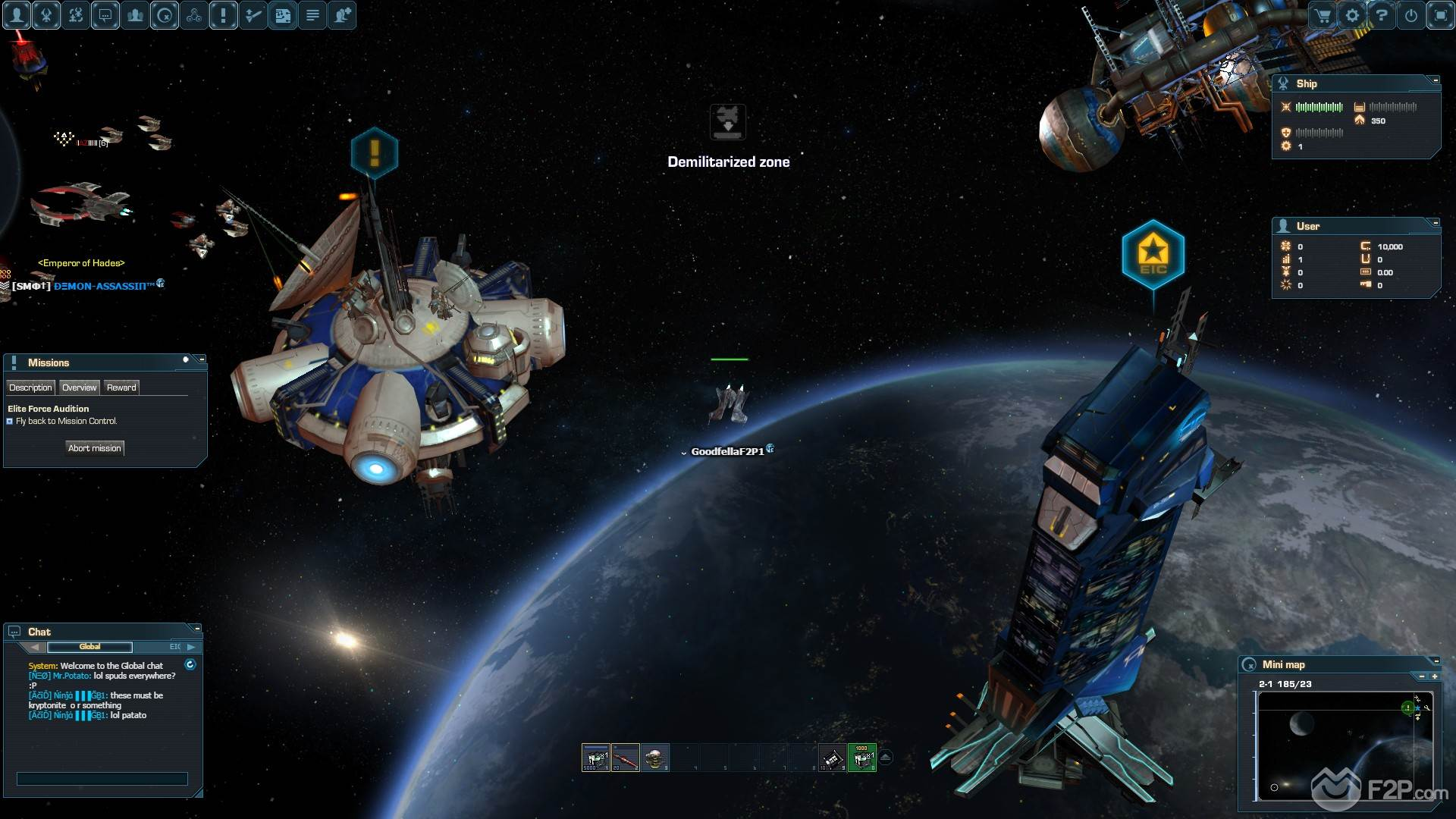 First Impressions on DarkOrbit Reloaded Free to Play Space MMO
