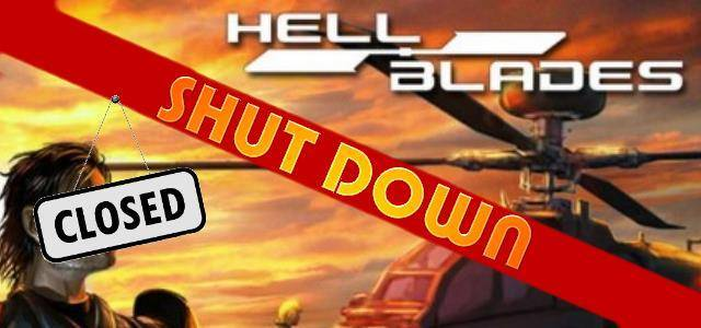 Hellblades - logo 640 shut down
