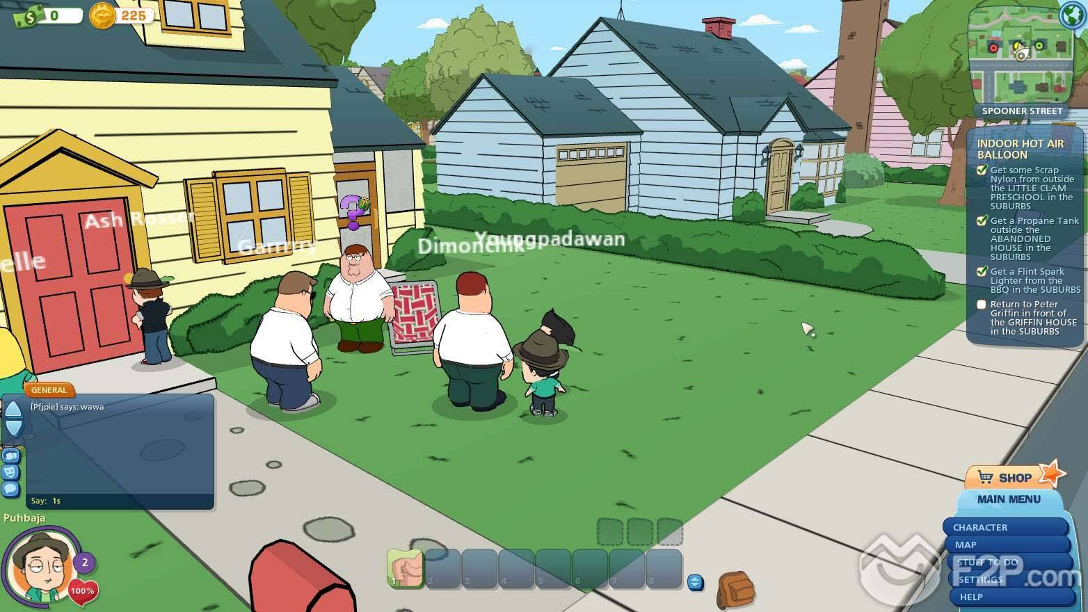 Family Games For Free : Family guy online screenshots