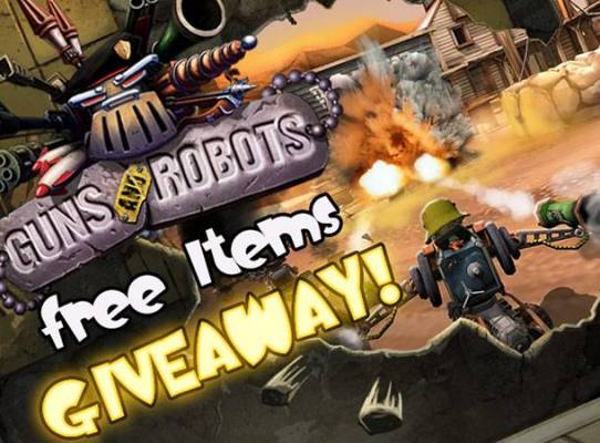 Guns and Robots, free items giveaway
