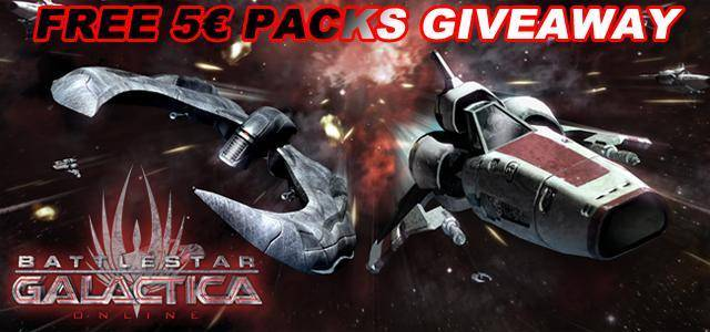 Battlestar Galactica Online exclusive free items packs giveaway