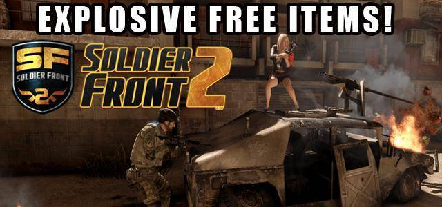 Soldier Front 2 exclusive free items giveaway