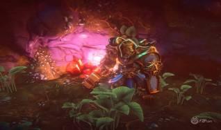 Kerra warrior in a subterranean crystal cave