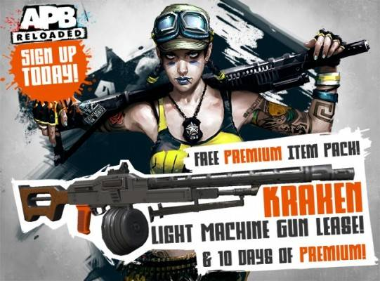 APB Reloaded, Free weapon and 10 days of Premium Giveaway
