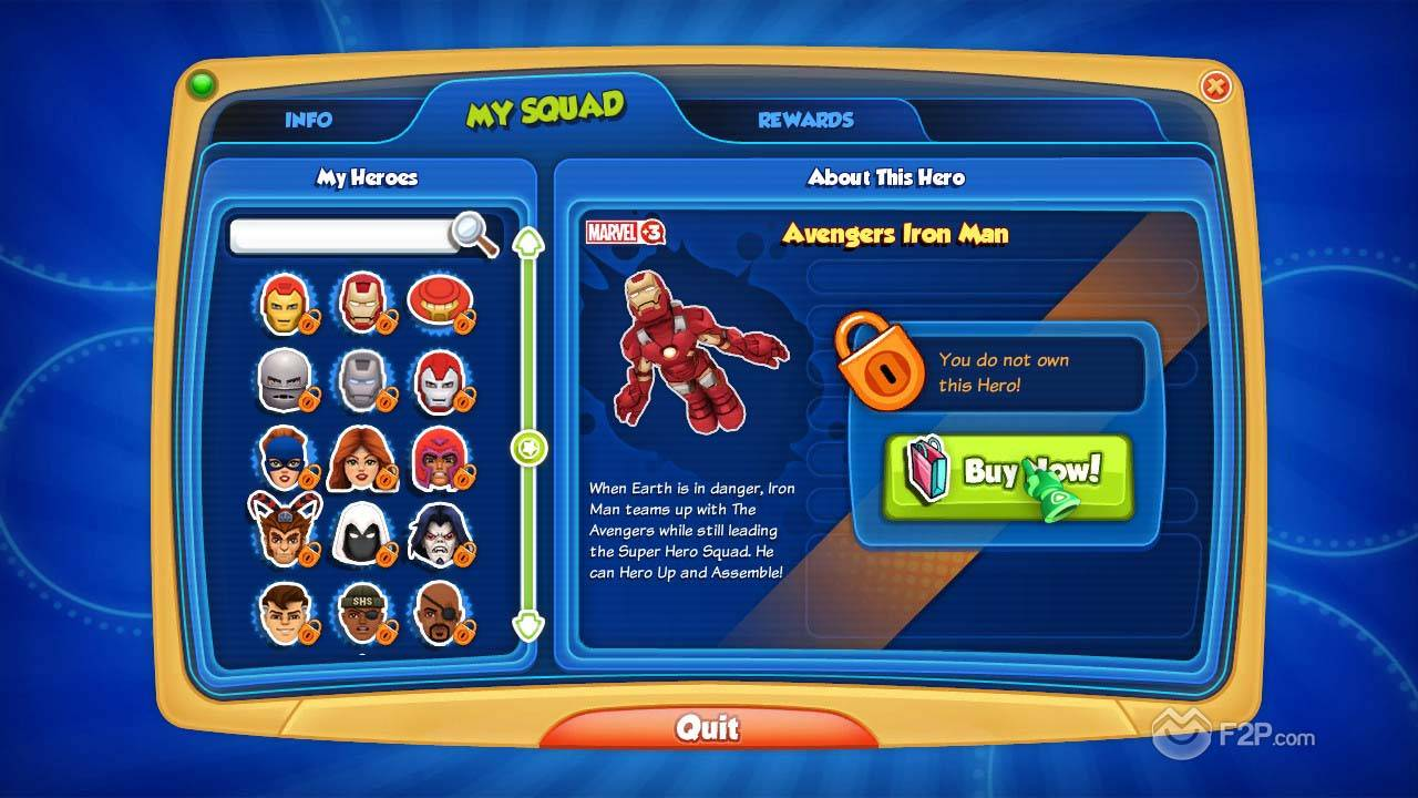 Marvel super hero squad online spider-man