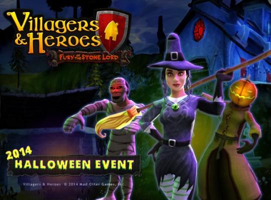 villagers halloween image