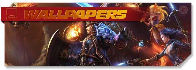 Heroes Evolved - Wallpapers headlogo - EN