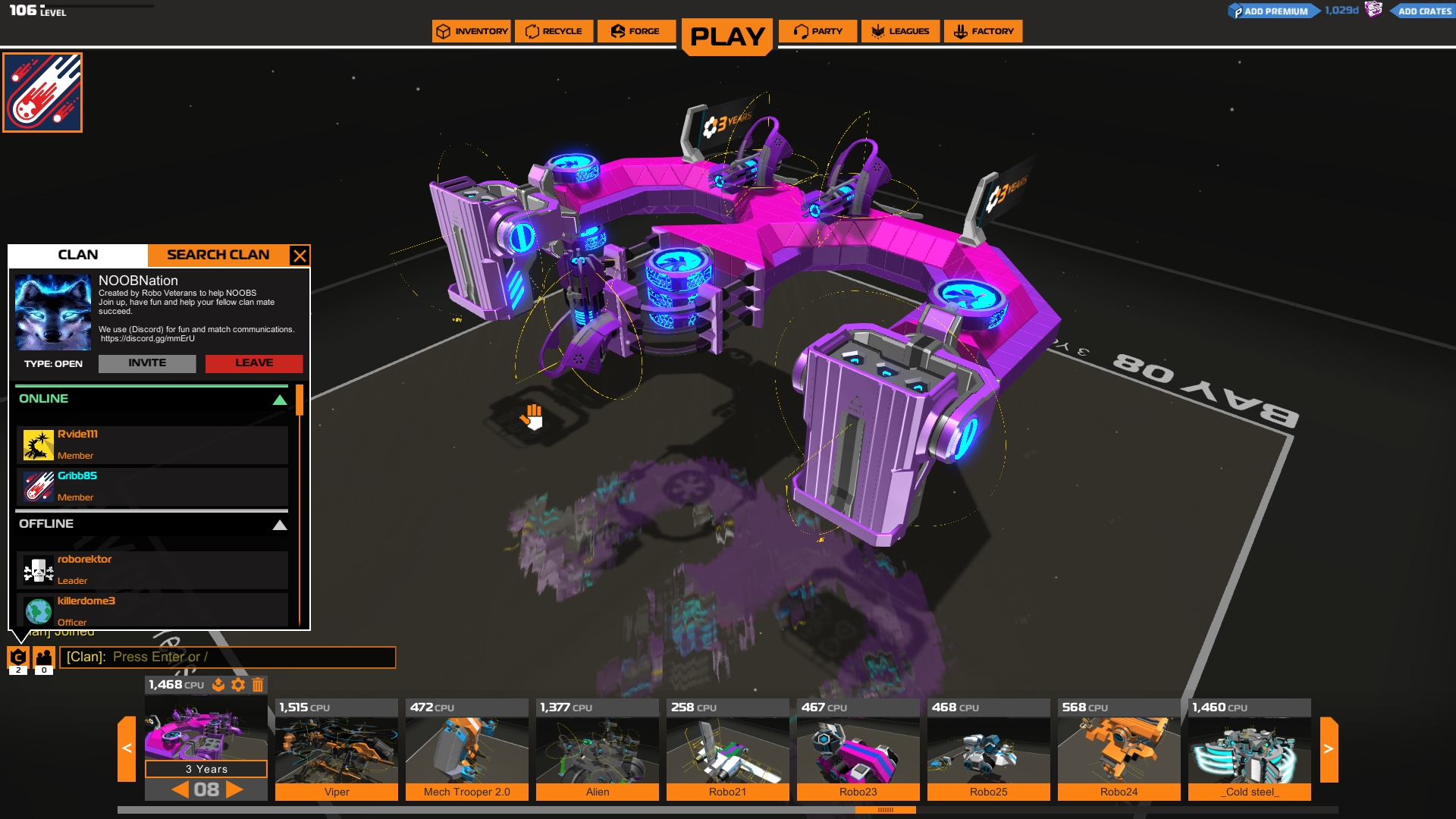 Robocraft Launches Clan Party Update