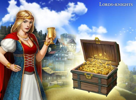 Lords & Knights New Players Gold Giveaway
