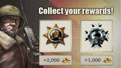 Call of War Archivement Reward System