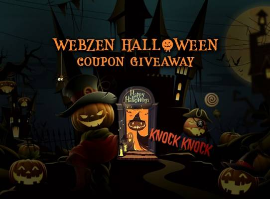 WebZen Halloween Event Gift Pack Giveaway, RAPPELZ, MU ONLINE, FLYFF, and C9.
