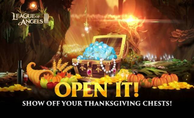 Show off Your Chests Thanksgiving in League of Angels 3