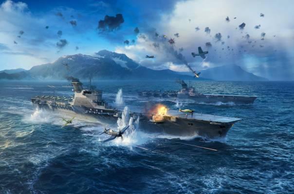 World of WarShips Screenshots update 080 Air carrier