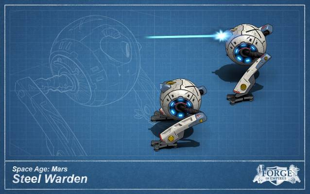 Forge of Empires Mars Steel Warden