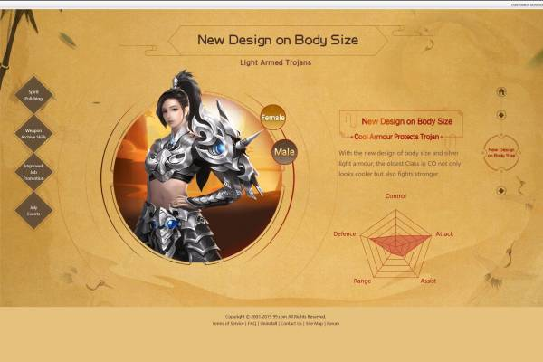 Conquer Online New Design on Body-size