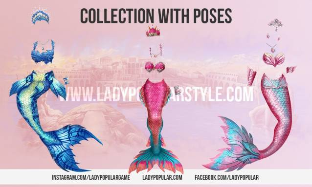Lady Popular Collection Mermaids Poses Event