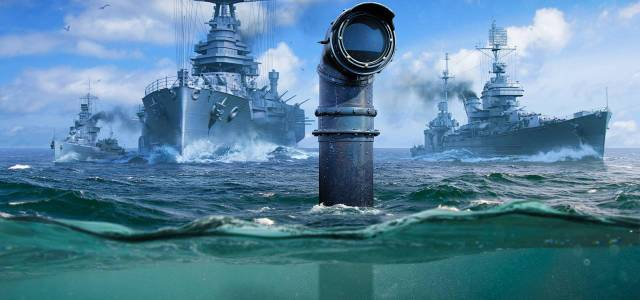 Submarines Are Diving into World of Warships - Submarines annoucement periscope