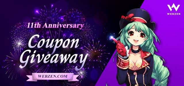 WEBZEN 11th Anniversary Festival Giveaway