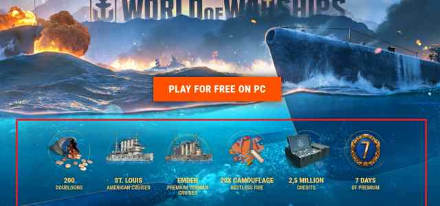 World of WarShips Starter Pack here on F2P.com